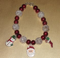Christmas Charm Bracelet by cassiesliltreasures on Etsy