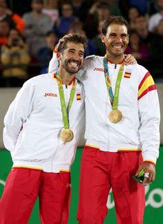 #ESP #Gold #Tenis- congratulations to @RafaelNadal @marclopeztarres in #Rio2016