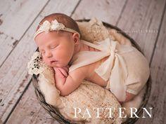 ROMPER PATTERN - Newborn Romper Sewing Pattern - Jenna