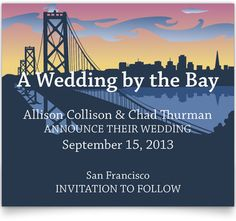 Wedding by the Bay Save the Date Cards