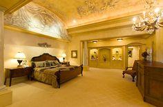 Extravagant barrel ceiling with trompe l'oeil...
