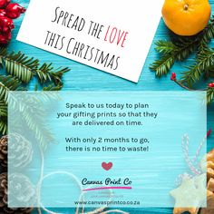 With only 2 months to go, there is no time to waste! Speak to us today to plan printed gifts for your loved ones this festive season ☺🎄 #canvasprinting #canvasgifts #spreadthelove #canvasprintcocountdown2018 #planyourchristmasgifts