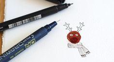 Drawing details on reindeer