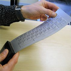 A Flexible Keyboard with Buttons That Feel Clickable. #gadget #geek