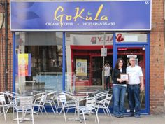 Gokula vegetarian cafe opened  14th May 2011 based in Market street, absolutely luv this place, You can read how they started here: https://www.facebook.com/GoKulaCafe/photos/pb.113896468646236.-2207520000.1413578173./535063619862850/?type=3&theater    It's such a friendly chilled place, which I highly recommend :)