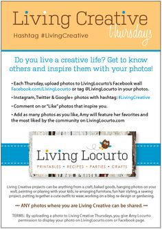 I hope you participate and share photos of your creative lives and projects with me each Thursday. #LivingCreative