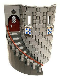 Smooth sided curved stairs. I want to use this in a moc when I have time.