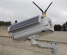 Wireless Solar CCTV Camera at www. Dome Camera, Ip Camera, Security Technology, Cctv Security Cameras, Miniature Camera, Solar Power Panels, Wireless Camera, New Inventions, Futuristic Technology