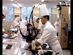 Chef Jacquy Pfeiffer chocolate sculpture and pastry montage - from 'Kings of Pastry'