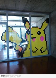 A wild Pikachu appears at school!