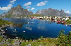 Reine is a fishing village and the administrative centre of the municipality of Moskenes in Nordland county, Norway. It is located on the island of Moskenesøya in the Lofoten archipelago, above the Arctic Circle, about 300 kilometres southwest of the town of Tromsø. The 0.33-square-kilometre village has a population (2011) of 329. The population density is 997 inhabitants per square kilometre. Reine Church is located here and it serves the northern part of the municipality.