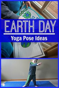 I love the reduce, reuse, recycle pose! - Earth Day yoga pose ideas are a great way to celebrate Earth Day! Pose like a sprout or the earth! Make movement a part of Earth Day! Gross Motor Activities, Movement Activities, Classroom Activities, Preschool Yoga, Preschool Ideas, Recycling Information, Little Buddha, Green Living Tips, Earth Day Activities