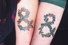 Schöne Infinity Paar Arm Tattoo designs