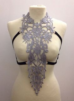 Lace harness cage bra Size Made to order by TwilightSiren on Etsy, £30.00