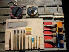 Studio: printing tools of Paul Furneaux Japanese Tools, Japanese Paper, Art Occidental, Japanese Woodcut, Japanese Watercolor, Sumi Ink, Mark Making, Gravure, Woodblock Print