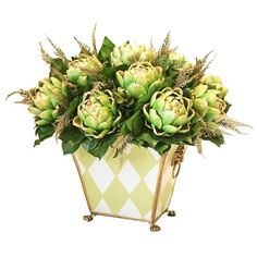 I pinned this Faux Artichoke Arrangement from the Decadent Deals & Splendid Splurges event at Joss and Main!