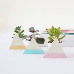 Add Some Spring to Your Space With DIY Geo Planters