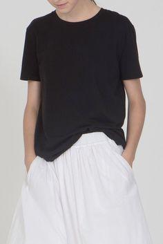 Black Short Sleeve Boy Tee Organic by John Patrick