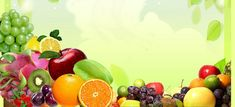 Green background variety of vegetables and fruits Mangosteen fruit does not . Green Backgrounds, Free Background Photos, Textured Background, Fruits Decoration, Free Birthday Invitation Templates, Fruit Shop, Free Fruit, Green Chilli, Sports Nutrition