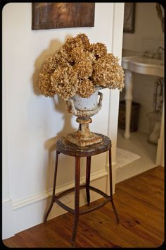 The Old Painted Cottage Unique Goods and Curious Finds:  Hydrangeas and urn