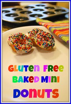 gluten free baked doughnuts - remember not to use bob's baking mix, get something with xanthan gum & baking soda (pure pantry?)