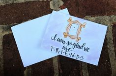 Friends Tv Show Birthday Card // Friends Tv Show by KTsCanvases