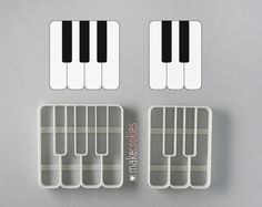 Piano Keys Cookie Cutters Set 2 pieces by MakeCookies on Etsy Dog Cookie Cutters, Gingerbread Man Cookie Cutter, Christmas Cookie Cutters, Music Cookies, Dog Cookies, Biodegradable Plastic, Biodegradable Products, Fondant, 3d Printed Objects
