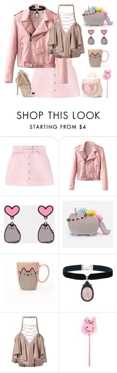 """Untitled #56"" by sunako-nakahara ❤ liked on Polyvore featuring Pusheen and Balmain"