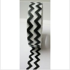 Washi Tape chevron negra