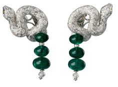Cartier emerald drops and diamond serpents
