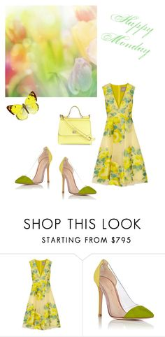 """""""Untitled #1377"""" by kimberlydalessandro ❤ liked on Polyvore featuring Lela Rose, Gianvito Rossi and Dolce&Gabbana"""