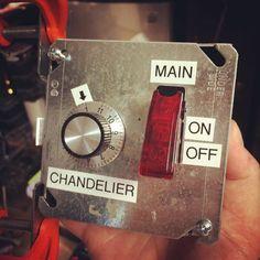 New control panel for #OriginalHalycon master 12VDC power & #LED #bourbon bottle chandelier.