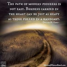 """""""Modern Pioneers"""" by Dallin H. Gospel Quotes, Lds Quotes, Religious Quotes, Uplifting Quotes, Quotable Quotes, Spiritual Quotes, Great Quotes, Prophet Quotes, Pioneer Trek"""
