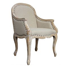 Solid Oak Carry Armchair Wheat | Overstock.com Shopping - Great Deals on Kosas Collections Living Room Chairs