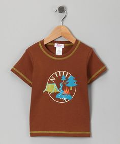 #Chocolate Yosemite Tee from Zutano on #zulily #summer #smores #camping #bonfire #boys #apparel #cute #clothing for #kids