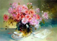 Anna Homchik 1976 | Ukrainian Still life painter | The sweet moments