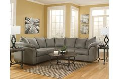 Cobblestone Darcy 2-Piece Sectional View 5