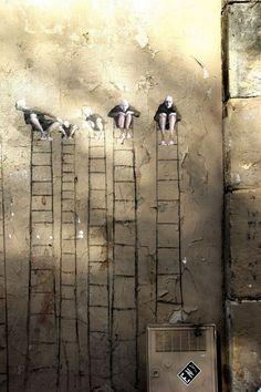 #streetart par Philippe Herard #echelle