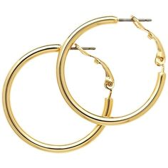 Melissa Odabash Small Hoop Earrings (€32) ❤ liked on Polyvore featuring jewelry, earrings, gold, hoop earrings, polish jewelry, white gold hoop earrings, melissa odabash and white gold jewellery