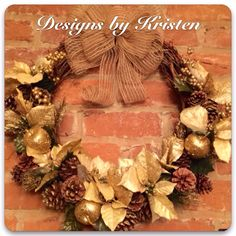 Handmade Winter Wreath...made by me!