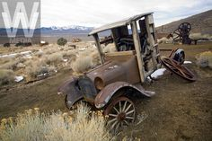 Berlin, Nevada. A vintage abandoned truck rusting away. 140 miles southeast of Reno.