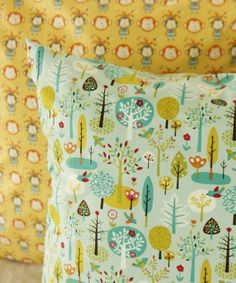 Scandinavian Style Forest Design 30s Cotton Fabric