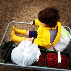Well-deserved rest after a hard working morning #pickyourown #farm #fruits #vegetables #fun #outdoor #kids #love #picoftheday #familydayout