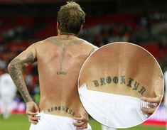 David Bekham's Tattoo Design and Meaning: Quotes David Beckham Tattoo Design On Back ~ Celebrity Tattoos Inspiration