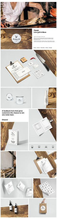 Cipajō is a Pub located in southern Italy.   Here you can enjoy high quality organic food from breakfast to dinner:  homemade yogurts, fresh potatoes, a large variety of gourmet burgers,  bbq specials and more.     I created the whole identity including namimg, concept, logotype and take away items. Main signage, custom menu boards, coasters and wine labels.    #naming #corporate #total #branding #Literature #packaging