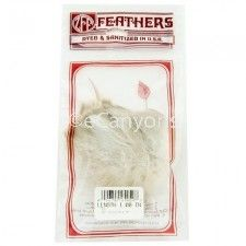 Zucker Feathers Natural Grey Coquille Strung 1 inch   Price : $0.79