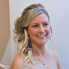 Half-up half-down wedding hair