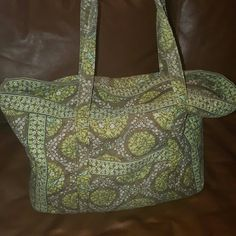 Vera Bradley Get Carried Away tote Huge tote with tons of pockets!  Matching pencil case included!  Gently used Vera Bradley Bags Totes