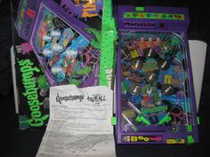 GOOSEBUMPS ELECTRONIC PINBALL GAME (1996) WITH BOX AND INSTRUCTIONS