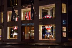 The new window displays at the Louis Vuitton New Bond Street Maison in London.